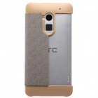 KALAIDENG Protective PU Leather + Superfiber Case Cover Stand for HTC ONE MAX (8088) - Golden