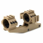 BD9018A -BD 30mm Dual Aluminum Alloy Bracket Gun Rail Mount w/ Hex Wrench - Tan
