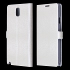 Velvet Mink Pattern Protective PU Leather Case Cover Stand for Samsung Galaxy Note 3 N9000 - White