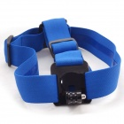 Highpro PC + Nylon Helmet Strap Mount for GoPro Hero 2 / Hero 3 / 3+ - Blue
