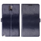 Velvet Mink Pattern Protective PU Leather Case Cover Stand for Samsung Galaxy Note 3 N9000 - Black