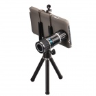 HAUTIK 12X Mobile Telephoto Lens w/ Mini Tripod & Back Case for Samsung Galaxy Note 3 - Black
