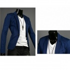 Spring Fashion Men's Slim Small Suits - Blue (XL)
