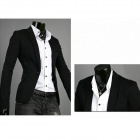 Spring Fashion Men's Slim Small Suits - Black (XL)
