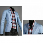 Spring Fashion Men's Slim Small Suits - Sky Blue (L)