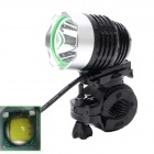 Buy ZHISHUNJIA LED 1000lm 4-Mode White Bicycle Headlight - Black + Silver (4 x 18650)