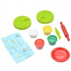 DIY 3D Lollipops Making Plasticine Educational Toy Model Set - Red + Green + Yellow + White