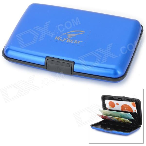 HGYBEST Waterproof Business Credit Card ABS Storage Box - Blue + Black