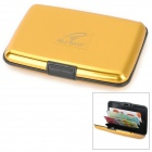 HGYBEST Waterproof Business Credit Card ABS Storage Box - Golden Yellow + Black