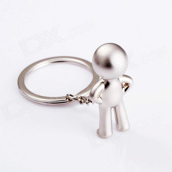 SALY-21882 3D Funny Mr P zink legering nyckelring - Silver
