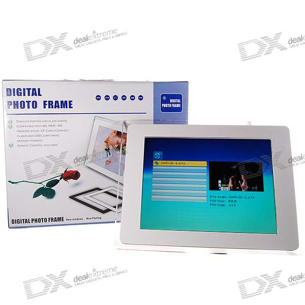 "12,1 ""TFT LCD CF / SM / SD / MS / MMC / XD / USB Digital Photo Frame und Video Player (1024 * 768px)"