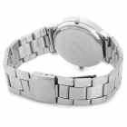 m003 Zinc Alloy Casing Stainless Steel Wristband Analog Watch for Men - Black + Silver