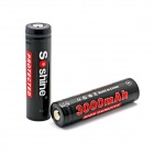 "Soshine Rechargeable 3.7V ""3000mAh"" Li-Ion 18650 Batteries Set - Black (2 PCS)"