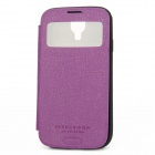 ARIUM DESIGN Anti-Shock Flip-open Protective PU Leather Case w/ Visual Window for Samsung Galaxy S4