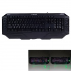 V-0X V1 USB Wired 110-Key Colorful Glare Gaming Keyboard - Black (180cm-Cable)
