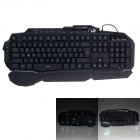 BATKNIGHT T20 USB Wired 118-Key Waterproof Colorful Backlight Gaming Keyboard - Black (150cm-cable)