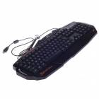 BATKNIGHT T10 USB Wired 112-Key Waterproof Colorful Backlight Gaming Keyboard - Black (150cm-Cable)