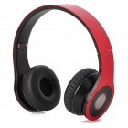 Bluedio R Folding Bluetooth V3.0 Stereo Headset w/ FM + TF Card Slot - Red + Black