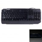 V-0X V3 USB Wired 104-Key Colorful Glare Gaming Keyboard - Black (180cm-Cable)