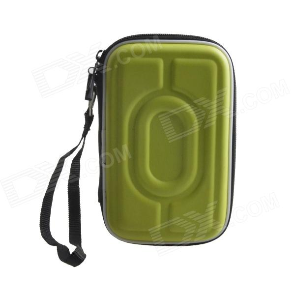 AYA-193 Protective Hard Shockproof Bag Case for 2.5 Hard Disk Drive - Green