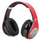 Bluedio R+ Folding Bluetooth V4.0 Stereo Headset w/ TF Card Slot - Black Red