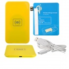 X5 Qi Standard Mobile Wireless Power Charger + Samsung N7100 Wireless Charger Receiver - Yellow+Blue