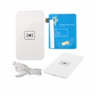X5 Qi Standard Mobile Wireless Power Charger + Samsung N7100 Wireless Charger Receiver - White +Blue