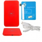 X5 Qi Standard Mobile Wireless Power Charger + Samsung N7100 Wireless Charger Receiver - Red + Blue