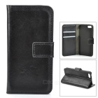 Silk Style Protective PU Leather + Plastic Case for IPHONE 5 / 5S - Black