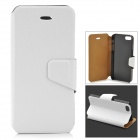 Silk Style Protective PU Leather + Plastic Case for IPHONE 5 / 5S - White