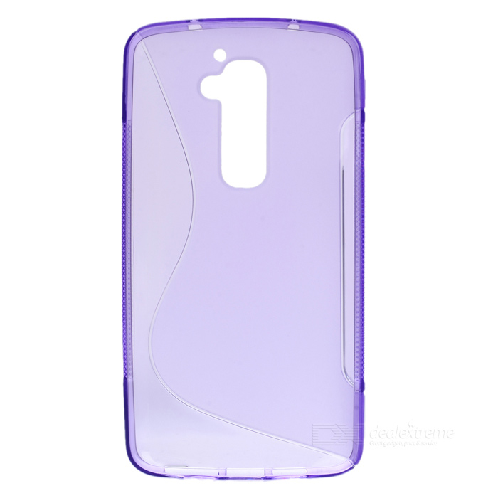 Matte Protective Silicone Back Case for LG G2 / D802 - Translucent Purple protective silicone case for nds lite translucent white