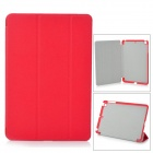 Protective PU Leather + Plastic Smart Case w/ Stand for IPAD MINI - Red