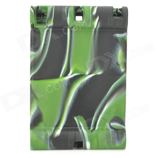 Cool Protective Anti-Shock Silicone Case for IPAD AIR - Camouflage Green anti shock protective silicone back case w stand for ipad air blue