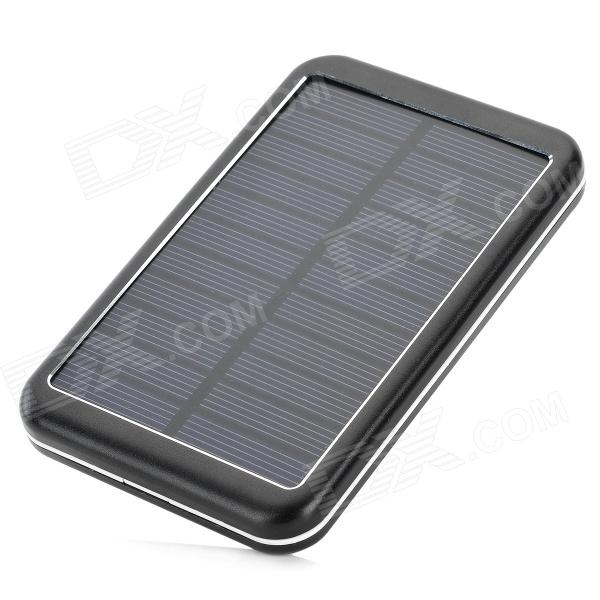 Con Banco de energía 8000mAh energía solar para el IPHONE / IPAD / IPOD / celular / Tablet PC - negro