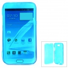 Protective Plastic Flip-Open Case for Samsung Galaxy Note 2 / N7100 - Translucent Dark Blue