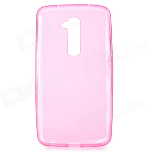 Matte Protective Silicone Back Case for LG G2 / D802 - Translucent Pink protective silicone case for nds lite translucent white