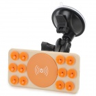 A8 Home / Car Windshield QI Standard Wireless Charger w/ Suction Cup - Orange + Khaki