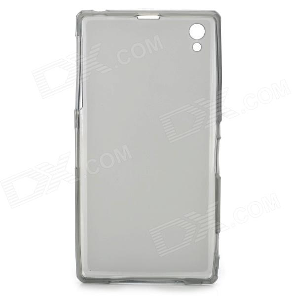 Matte Protective Silicone Back Case for Sony L39H - Translucent Black