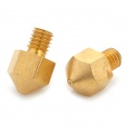 0.4mm Copper Nozzle for Ultimaker 3D Printer - Golden (2 PCS)