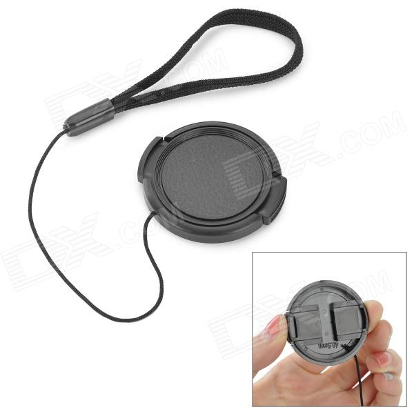 EOSCN 40.5mm Universal ABS Lens Cover w/ Strap - Black