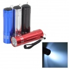 Outdoor 9-LED 50lm 1-Mode White Flashlights Set (4 PCS)