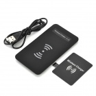 Qi Standard Wireless Transmitter Charger + Receiver for Samsung Galaxy Note 2 N7100 - Black