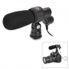 Nonsha C1638 Universal 3.5mm Q3 Stereo Professional Video Microphone - Black