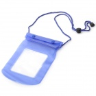 Universal Waterproof Plastic Bag w/ Strap for Mobile Phone - Blue