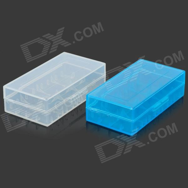 18650 Battery Protective Storage Case - White + Light Blue (2 PCS) spark storage bag portable carrying case storage box for spark drone accessories can put remote control battery and other parts