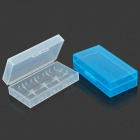 18650 Battery Protective Storage Case - White + Light Blue (2 PCS)