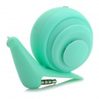 Face Idea LD-04 Cute Mini Snail Style USB Rechargeable Speaker - Grass Green (3.5mm Jack)