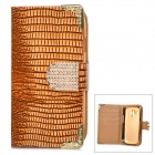 Stylish Protective PU Leather + Rhinestone Case for Samsung Galaxy S3 Mini i8190 / i8160 - Brown