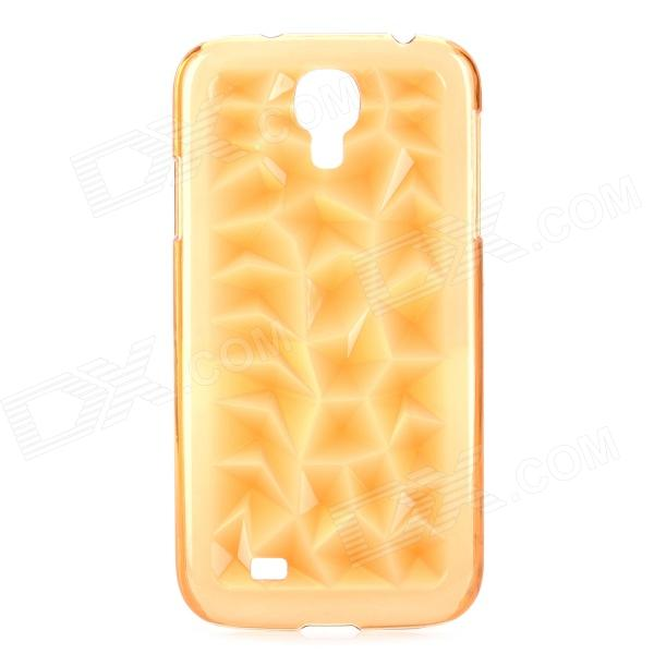 3D Magic Cube Style Protective ABS Back Case for Samsung Galaxy S4 i9500 - Translucent Orange
