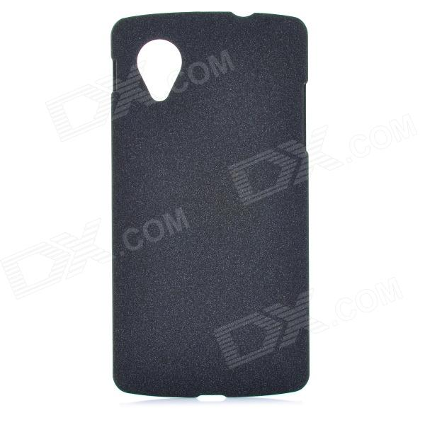 TEMEI Protective Frosted Plastic Back Case for Google Nexus 5 - Black protective matte frosted back case for htc one x s720e black